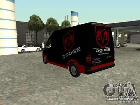 Dodge Sprinter Van 2500 para GTA San Andreas esquerda vista