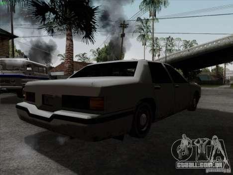 New Elegant para GTA San Andreas traseira esquerda vista