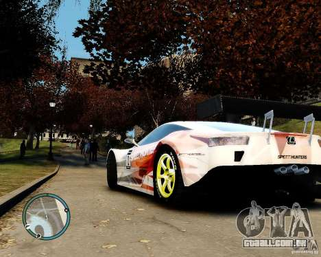 Lexus LFA Speedhunters Edition para GTA 4 traseira esquerda vista