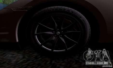 Nissan GTR R35 Tuneable para GTA San Andreas traseira esquerda vista