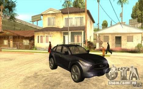 Infiniti FX50 Beta para GTA San Andreas vista traseira