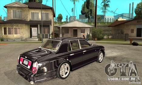Bentley Arnage T para GTA San Andreas vista traseira