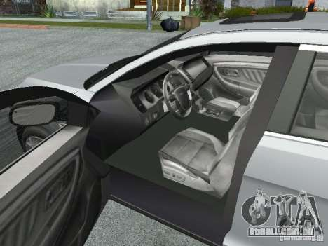 Ford Taurus para GTA San Andreas vista traseira