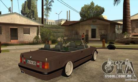 BMW E30 325i Cabrio 1989 para GTA San Andreas vista direita