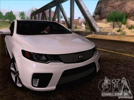 Kia Forte Koup SX para GTA San Andreas vista superior