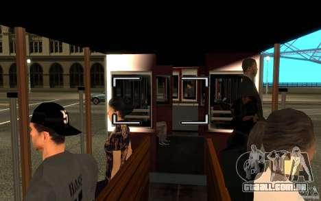 Enterable Tram v1.2 para GTA San Andreas esquerda vista