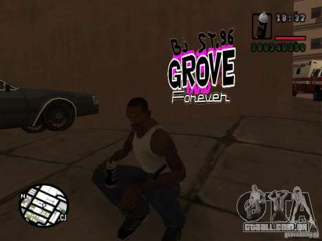Novas gangues de pichação para GTA San Andreas por diante tela