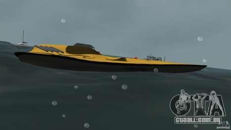 X-87 Offshore Racer para GTA Vice City deixou vista