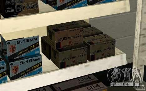 Loja de arma S. T. A. L. k. e. R para GTA San Andreas quinto tela