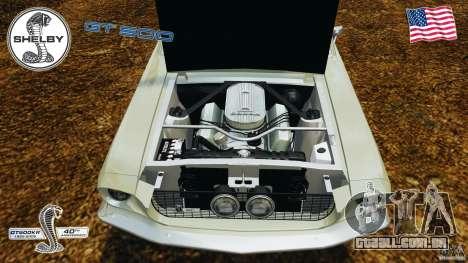 Shelby GT 500 para GTA 4 vista interior