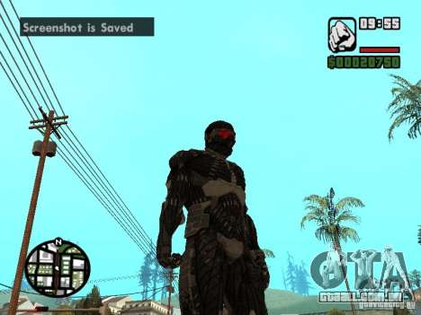 Crysis Nano Suit para GTA San Andreas terceira tela