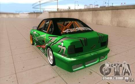 BMW E34 V8 Wide Body para GTA San Andreas traseira esquerda vista
