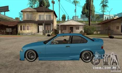 BMW M3 HAMMAN para GTA San Andreas esquerda vista