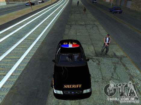 Ford Crown Victoria Erie County Sheriffs Office para GTA San Andreas esquerda vista