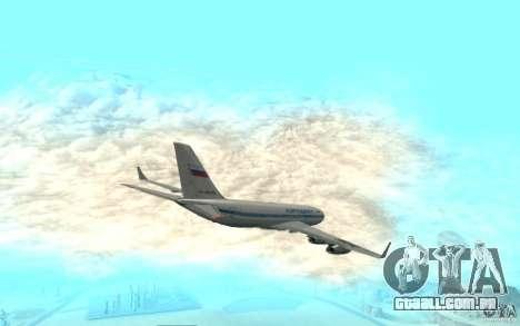 Ilyushin Il-96 para GTA San Andreas traseira esquerda vista