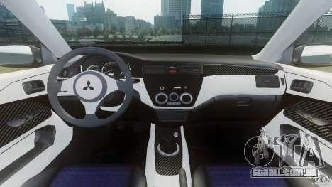 Mitsubishi Lancer Evo 2004 para GTA 4 vista de volta