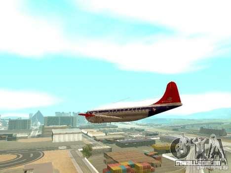 Boeing 377 Stratocruiser para GTA San Andreas vista direita