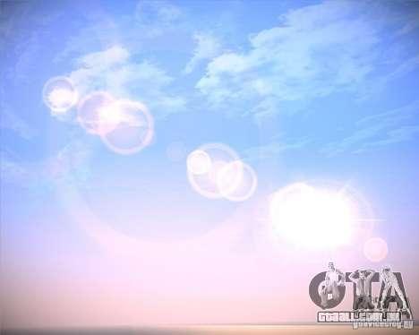 Real Clouds HD para GTA San Andreas por diante tela