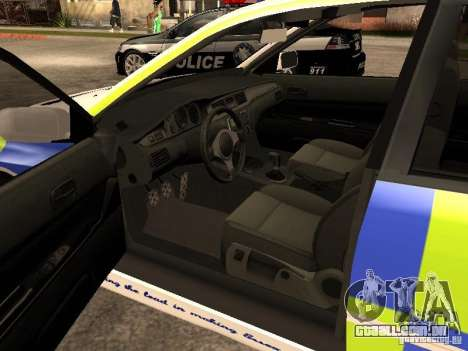 Mitsubishi Lancer EVO 8 Uk Policecar para GTA San Andreas traseira esquerda vista