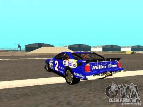 Ford Taurus Nascar LITE para GTA San Andreas traseira esquerda vista