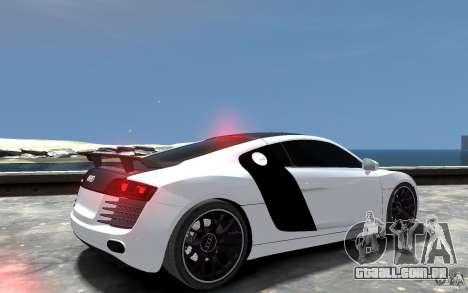 Audi R8 2008 Beta para GTA 4 vista direita