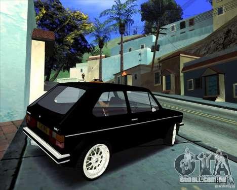 Volkswagen Golf MK 1 para GTA San Andreas vista traseira