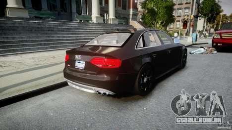 Audi S4 Unmarked [ELS] para GTA 4 vista lateral