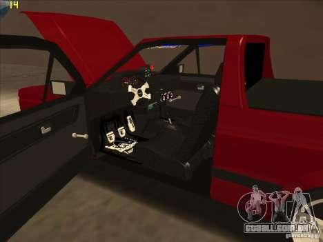 Volkswagen Saveiro Summer para GTA San Andreas vista interior