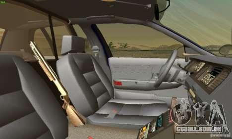 Ford Crown Victoria Masachussttss Police para GTA San Andreas traseira esquerda vista