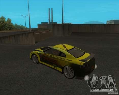 Nissan GTR35 para GTA San Andreas esquerda vista
