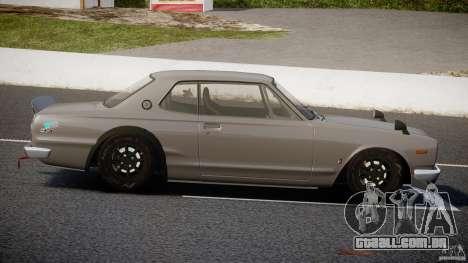 Nissan Skyline Hakosuka (KPGC10) Mountain Drift para GTA 4 vista lateral