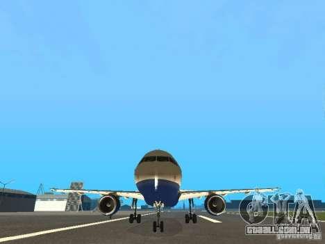 Airbus A320 British Airways para GTA San Andreas vista traseira