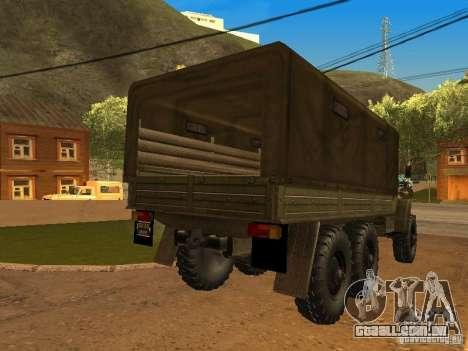 Ural 4320 para GTA San Andreas esquerda vista