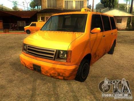 Taxi Moonbeam para GTA San Andreas esquerda vista