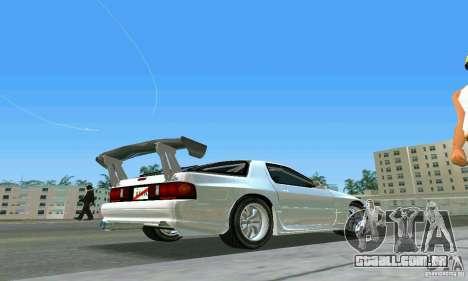 Mazda Savanna RX-7 FC3S para GTA Vice City vista traseira esquerda