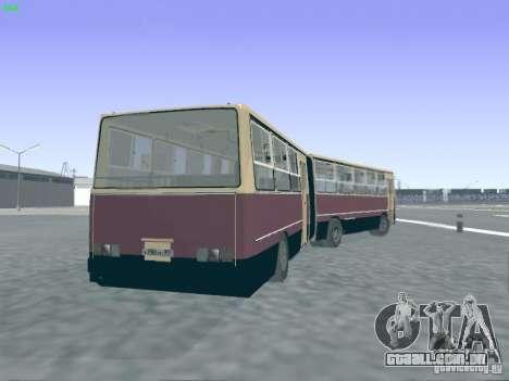 Trailer de Ikarus 280.03 para GTA San Andreas vista interior