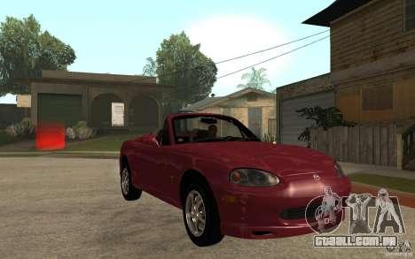 Mazda MX5 - Stock para GTA San Andreas vista traseira