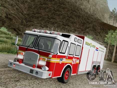E-One F.D.N.Y Fire Rescue 1 para GTA San Andreas vista inferior