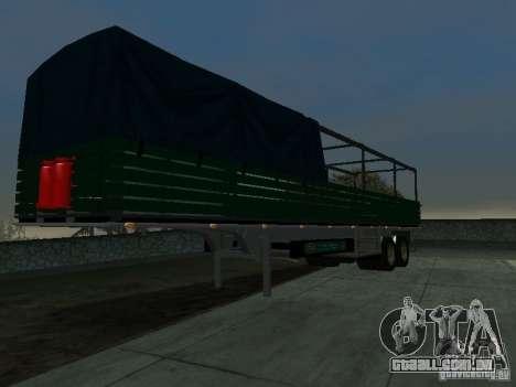 Trailer inglês de Kamaz para GTA San Andreas vista direita