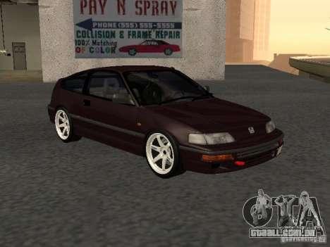 Honda Civic CRX JDM para GTA San Andreas vista direita
