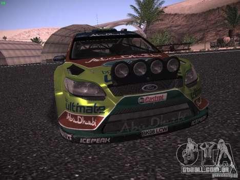 Ford Focus RS WRC 2010 para GTA San Andreas vista superior