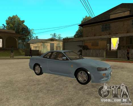 Nissan SkyLine R-34 Tunable para GTA San Andreas vista interior