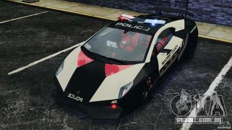 Lamborghini Sesto Elemento 2011 Police v1.0 RIV para GTA 4 vista inferior