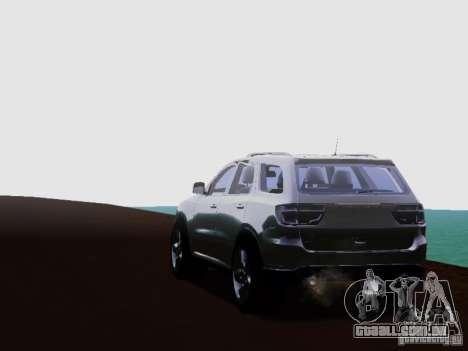 Dodge Durango 2012 para GTA San Andreas vista direita