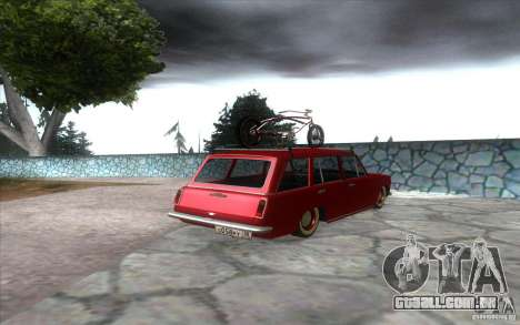 2102 VAZ retro para GTA San Andreas traseira esquerda vista