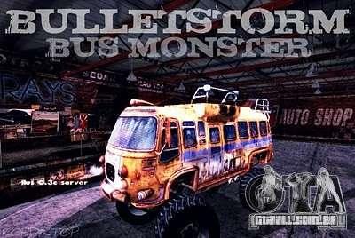 Bullet Storm Bus para GTA San Andreas vista direita