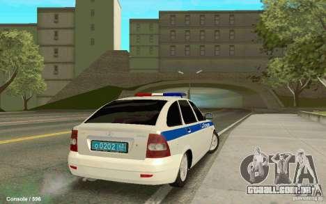 Lada Priora DPS para GTA San Andreas esquerda vista