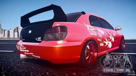 Subaru Impreza WRX STI para GTA 4 vista inferior