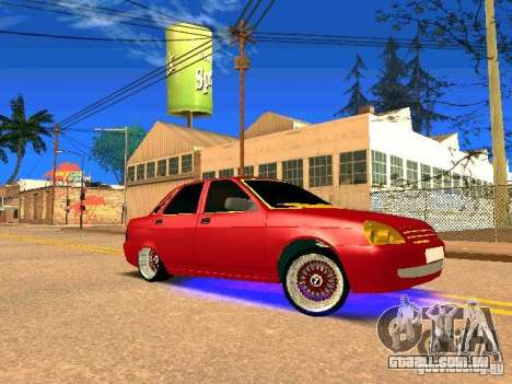 LADA 2170 Priora Gold Edition para GTA San Andreas vista superior