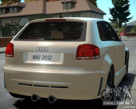 Audi S3 v2.0 para GTA 4 vista direita